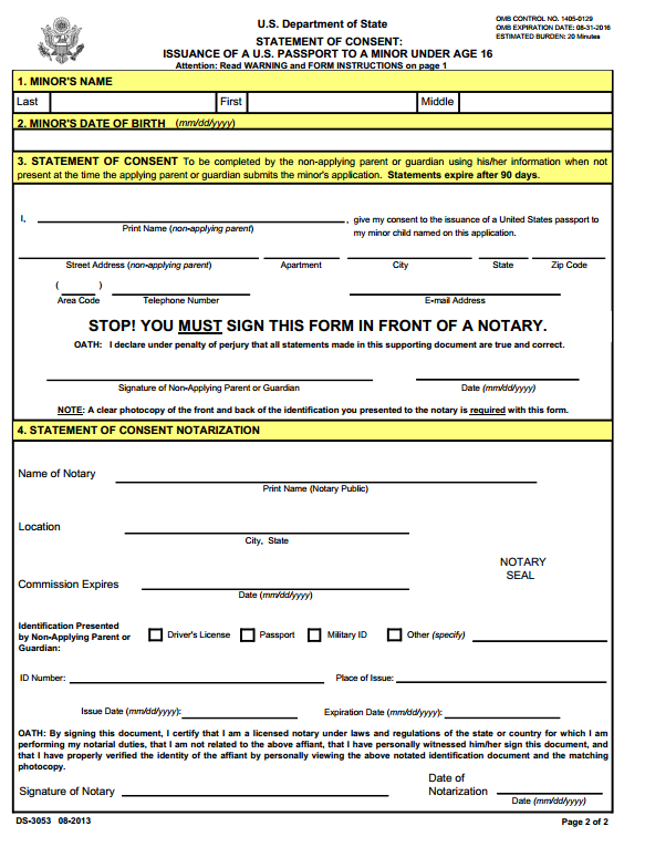 photo relating to Ds 3053 Printable Form named Madison : Us pport renewal kind 82