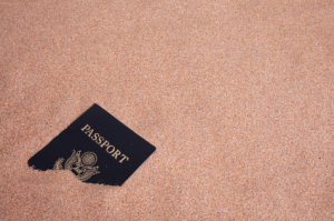 Passport lost in the sand