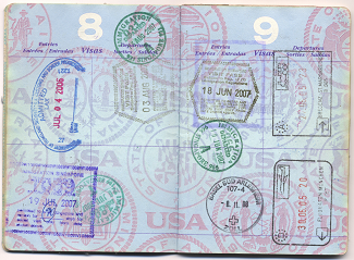 US Passport Full of Stamps