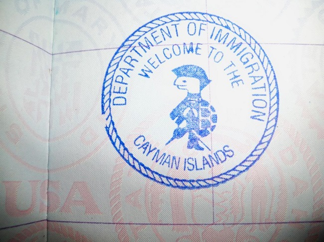 Maldives passport stamp