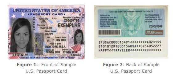 a Sample Passport Card