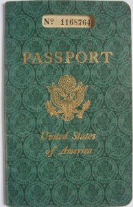 Vintage Green US Passport