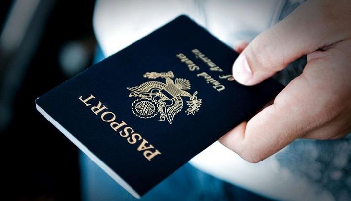 Handing over a passport