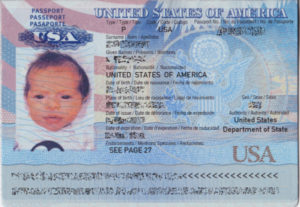 a passport for a baby