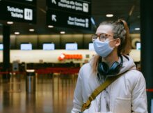 Masked Traveler at the Airport